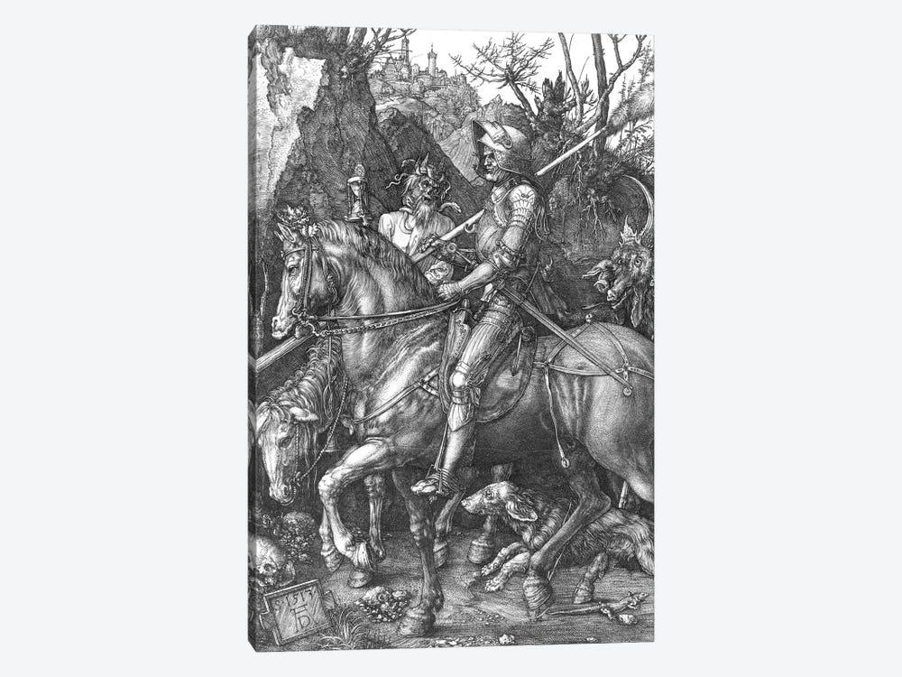 Knight, Death and the Devil, 1513  by Albrecht Dürer 1-piece Canvas Art Print