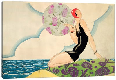 Bather, c.1925 (w/c on paper) Canvas Art Print