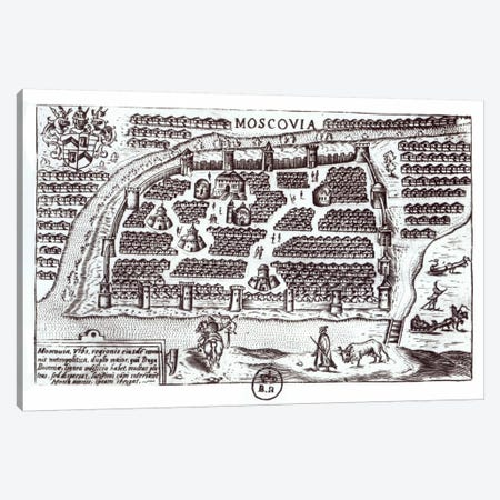 Plan of Moscow, 1628  Canvas Print #BMN2100} by French School Canvas Print