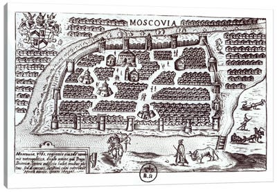 Plan of Moscow, 1628  Canvas Art Print