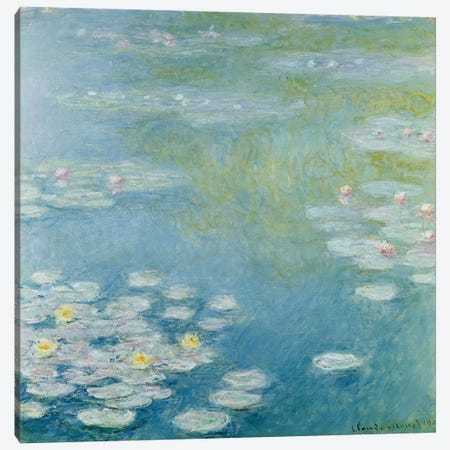Nympheas at Giverny, 1908  Canvas Print #BMN2103} by Claude Monet Canvas Print