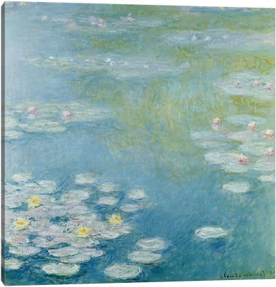 Nympheas at Giverny, 1908  Canvas Art Print