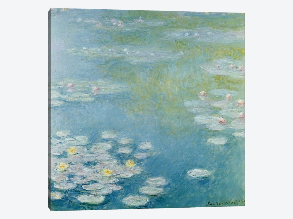 Nympheas at Giverny, 1908 by Claude Monet 1-piece Canvas Print