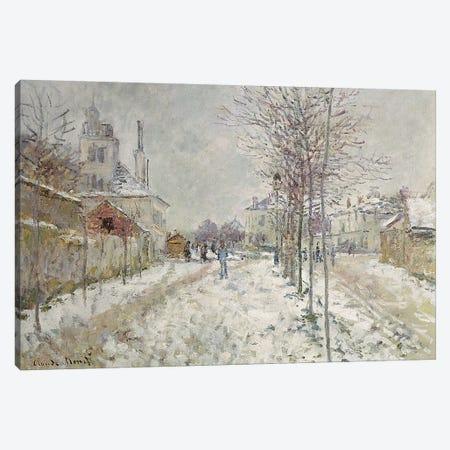 Snow Effect  Canvas Print #BMN2104} by Claude Monet Canvas Wall Art