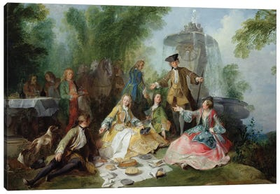 The Hunting Party Meal, c. 1737  Canvas Art Print