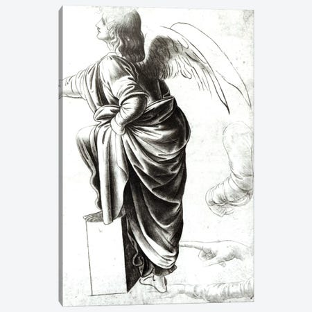 Study of an Angel  Canvas Print #BMN2109} by Leonardo da Vinci Canvas Art Print
