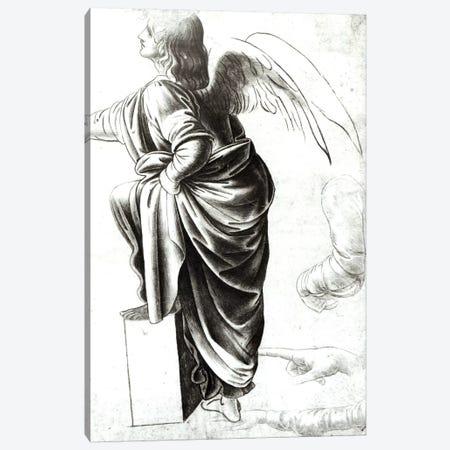 Study of an Angel  Canvas Print #BMN2109} by Leonardo da Vinci Canvas Art Print
