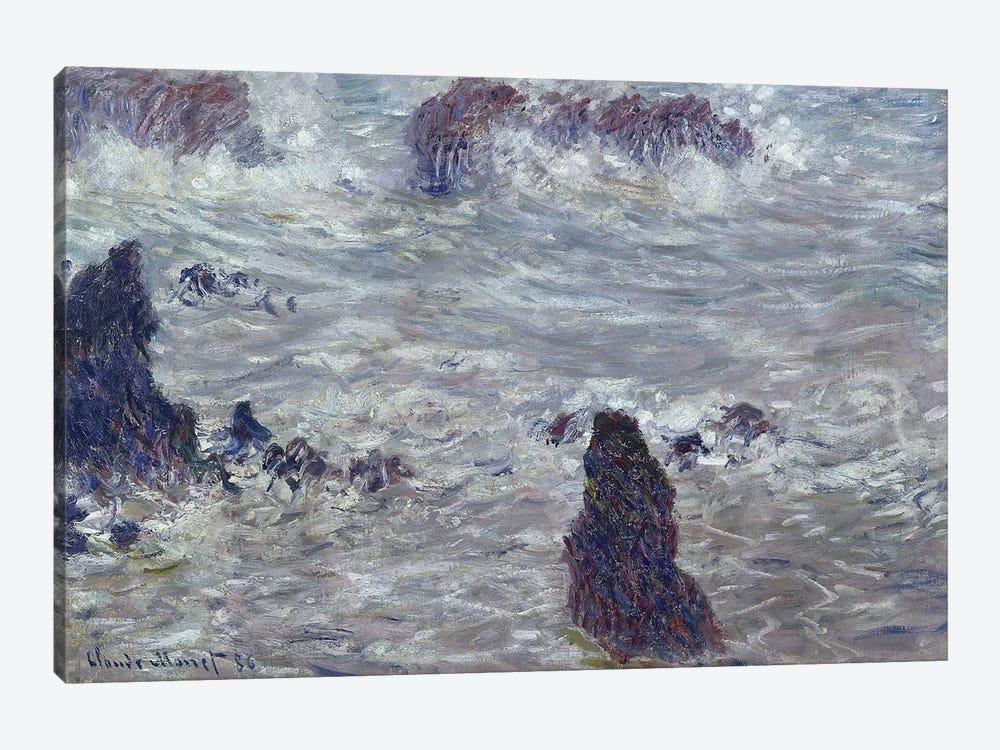 Storm, off the Coast of Belle-Ile, 1886  by Claude Monet 1-piece Canvas Print