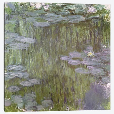 Nympheas at Giverny, 1918  Canvas Print #BMN2110} by Claude Monet Canvas Wall Art