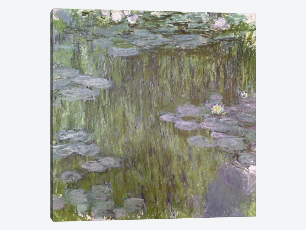Nympheas at Giverny, 1918  by Claude Monet 1-piece Canvas Art Print