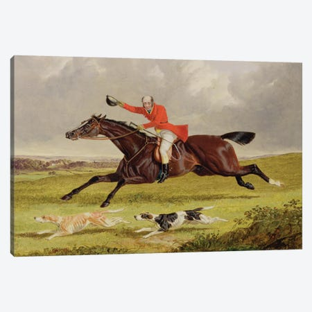 Encouraging Hounds, 1839  Canvas Print #BMN2113} by John Frederick Herring Sr Canvas Art