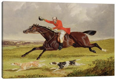 Encouraging Hounds, 1839  Canvas Art Print