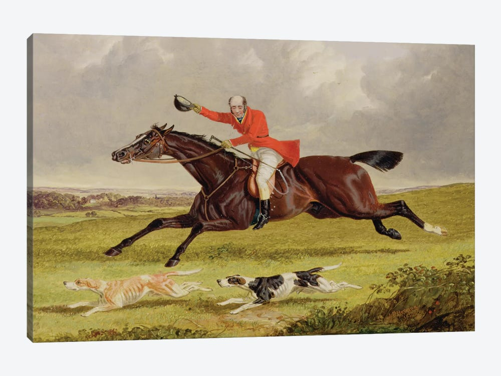 Encouraging Hounds, 1839  by John Frederick Herring Sr 1-piece Canvas Artwork