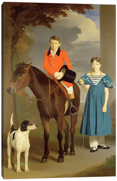 John Gubbins Newton and his Sister Mary, 1832-33  Canvas Art Print