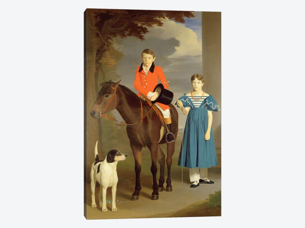 John Gubbins Newton and his Sister Mary, 1832-33  by Robert Burnard 1-piece Canvas Artwork
