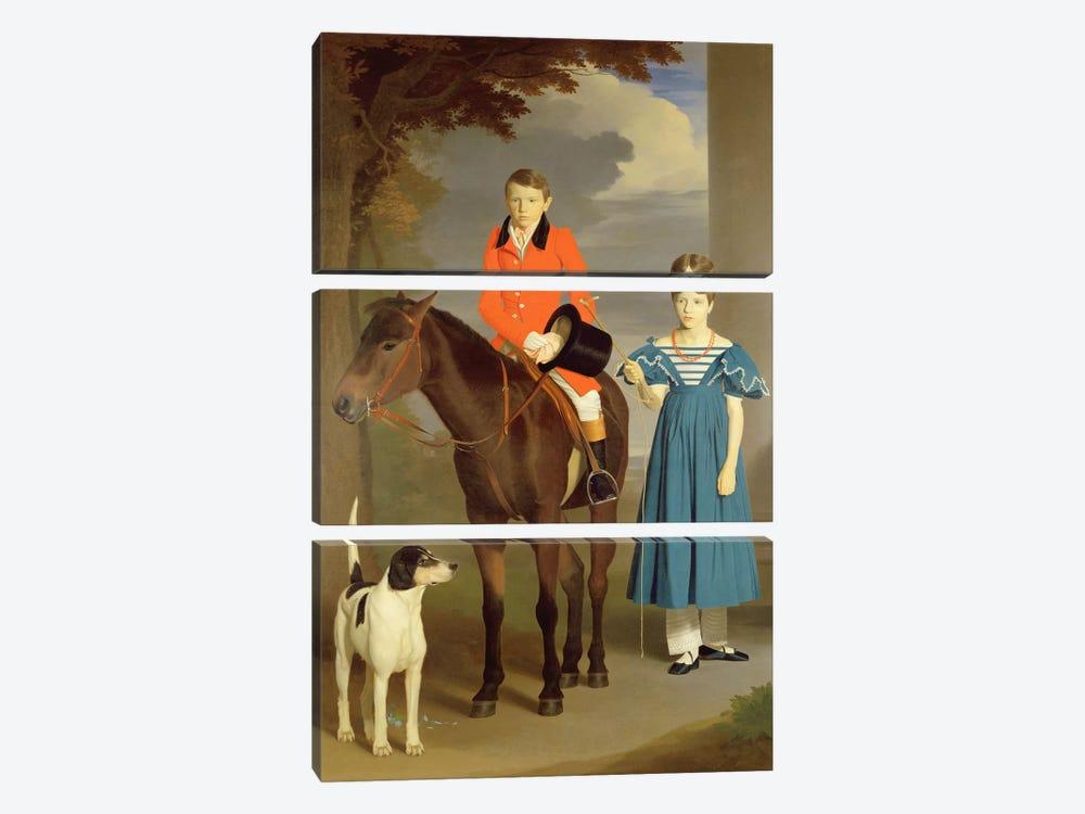 John Gubbins Newton and his Sister Mary, 1832-33  by Robert Burnard 3-piece Canvas Wall Art