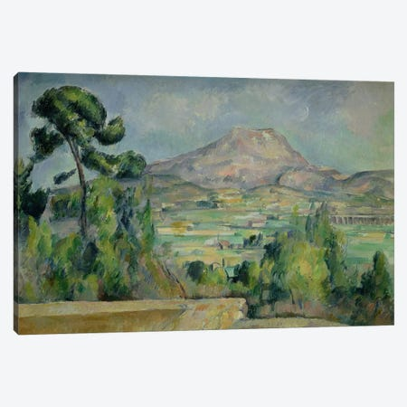 Montagne Sainte-Victoire, c.1887-90  Canvas Print #BMN2121} by Paul Cezanne Canvas Art Print