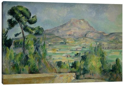 Montagne Sainte-Victoire, c.1887-90 by Paul Cezanne Canvas Art Print