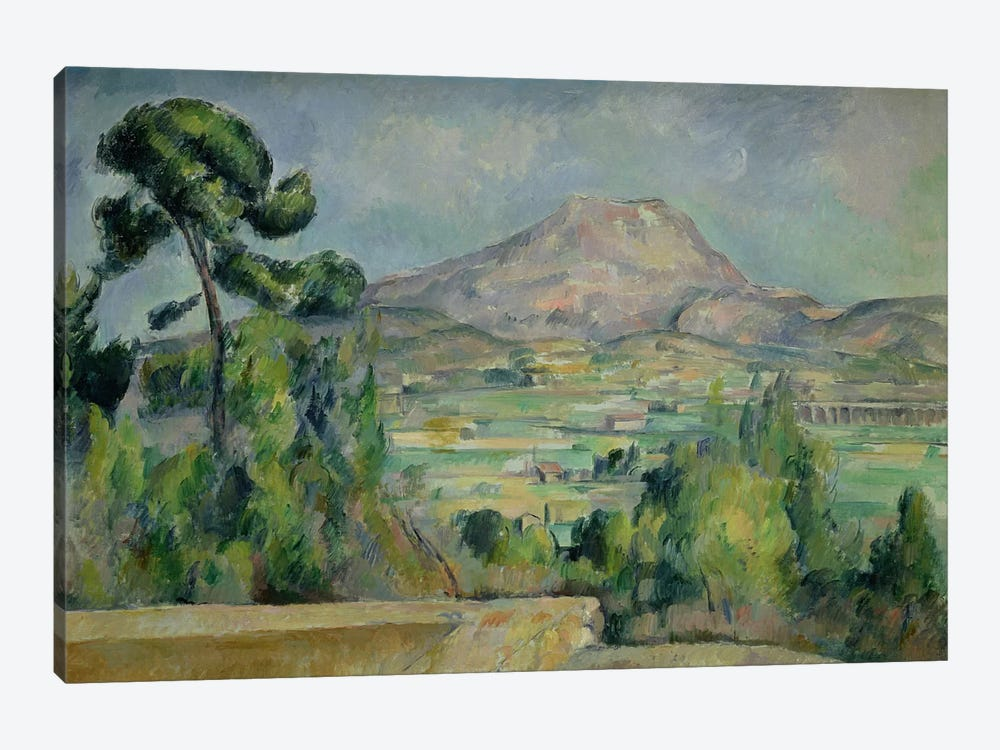 Montagne Sainte-Victoire, c.1887-90  by Paul Cezanne 1-piece Canvas Art Print