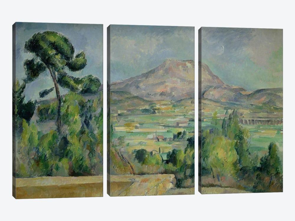 Montagne Sainte-Victoire, c.1887-90  by Paul Cezanne 3-piece Canvas Art Print