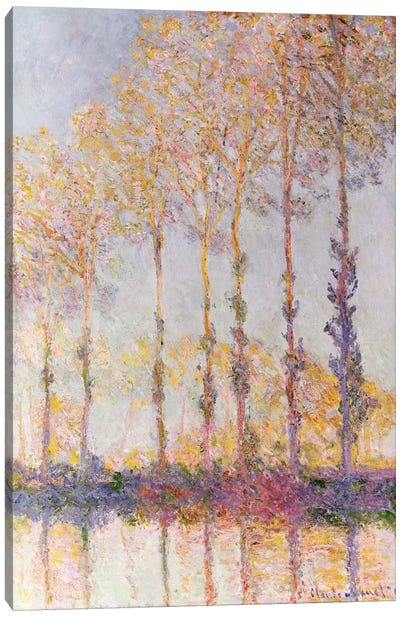 Poplars on the Banks of the Epte, 1891  Canvas Art Print