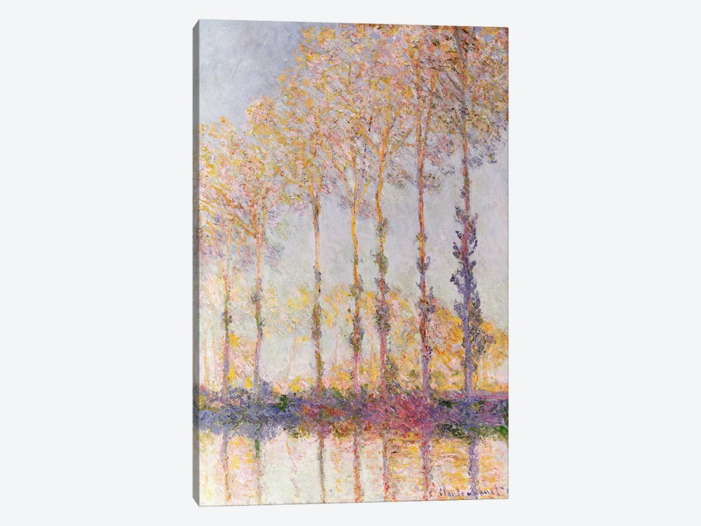 Poplars on the Banks of the Epte, 1891  by Claude Monet 1-piece Canvas Art Print