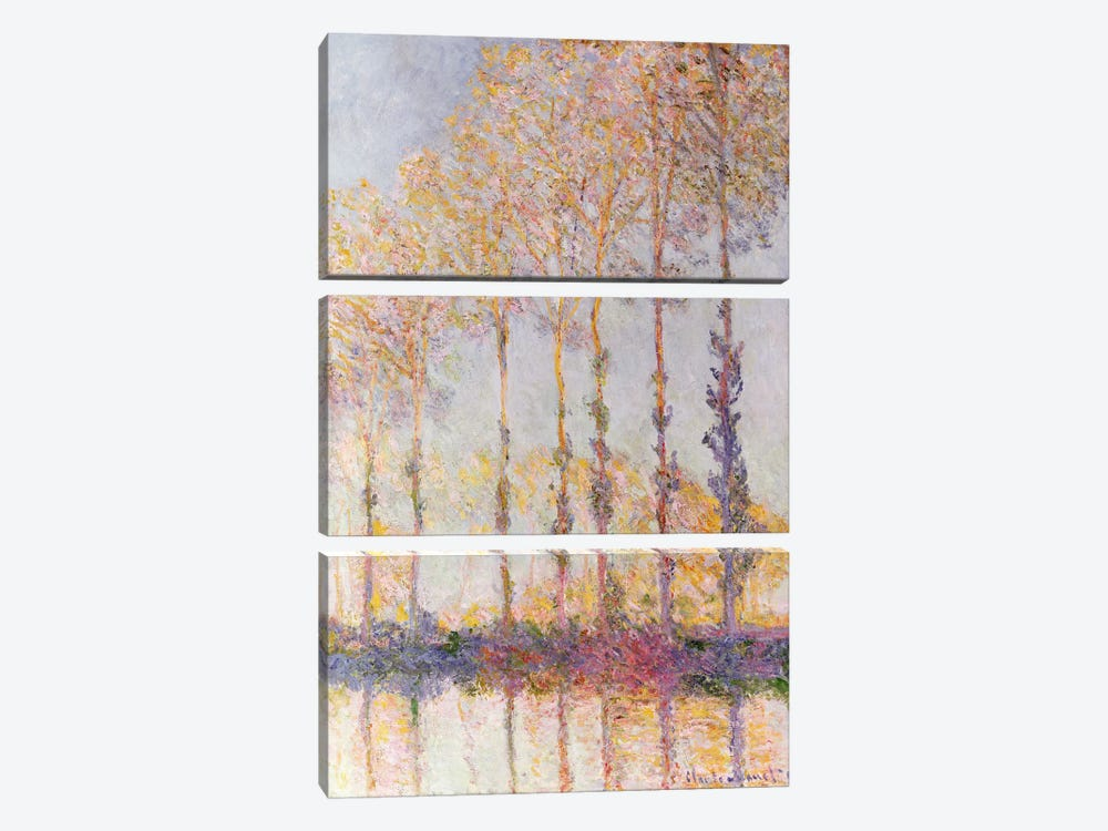 Poplars on the Banks of the Epte, 1891 by Claude Monet 3-piece Art Print