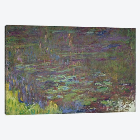 Waterlilies at Sunset, detail from the right hand side, 1915-26  Canvas Print #BMN2125} by Claude Monet Canvas Art