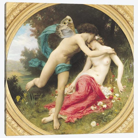 Flora and Zephyr, 1875  Canvas Print #BMN2127} by William-Adolphe Bouguereau Canvas Artwork
