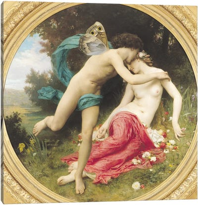 Flora and Zephyr, 1875  Canvas Art Print