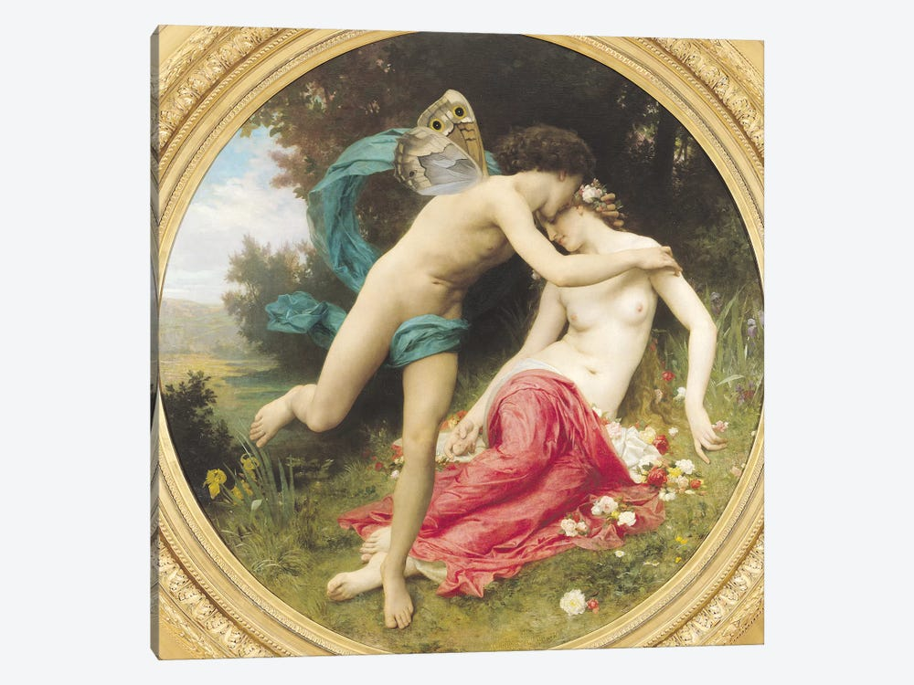 Flora and Zephyr, 1875  by William-Adolphe Bouguereau 1-piece Canvas Art Print