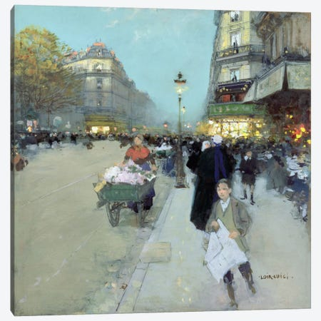 Urban Landscape  Canvas Print #BMN2128} by Luigi Loir Canvas Art Print