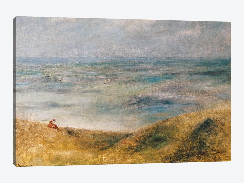 View of the Sea, Guernsey  by Pierre-Auguste Renoir 1-piece Canvas Print