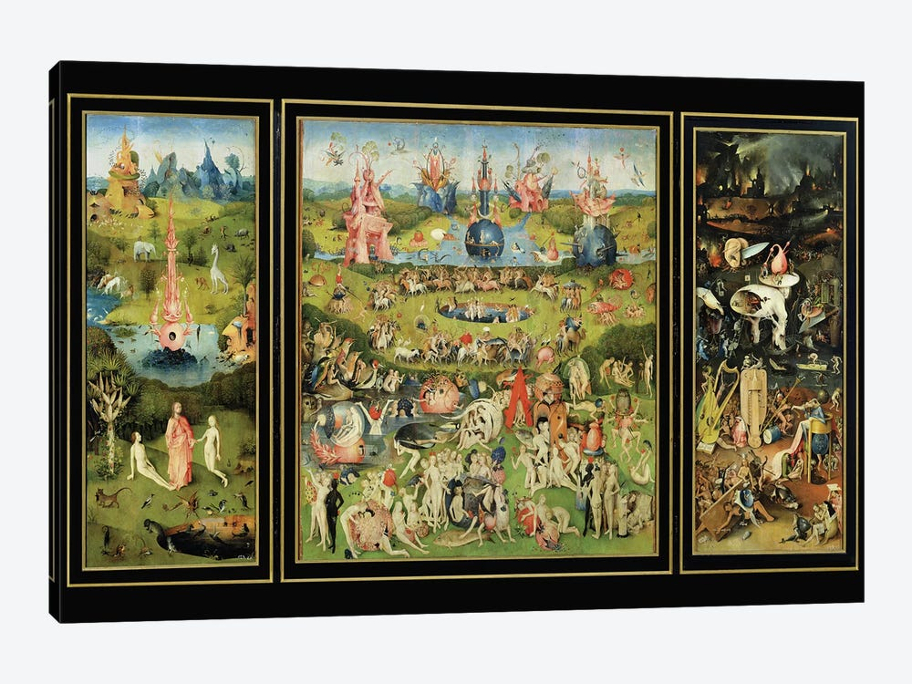 The Garden of Earthly Delights, c.1500  by Hieronymus Bosch 1-piece Canvas Art Print