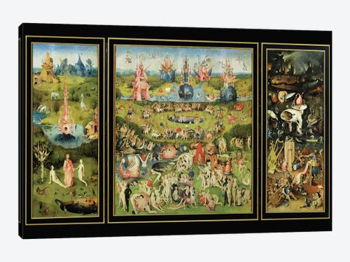 The Garden Of Earthly Delights C 1500 Can Hieronymus Bosch Icanvas
