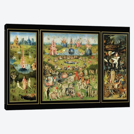 The Garden of Earthly Delights, c.1500  Canvas Print #BMN212} by Hieronymus Bosch Canvas Print