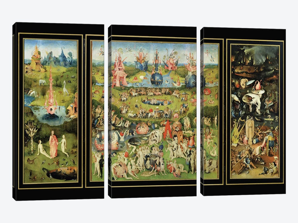 The Garden of Earthly Delights, c.1500  by Hieronymus Bosch 3-piece Canvas Art Print