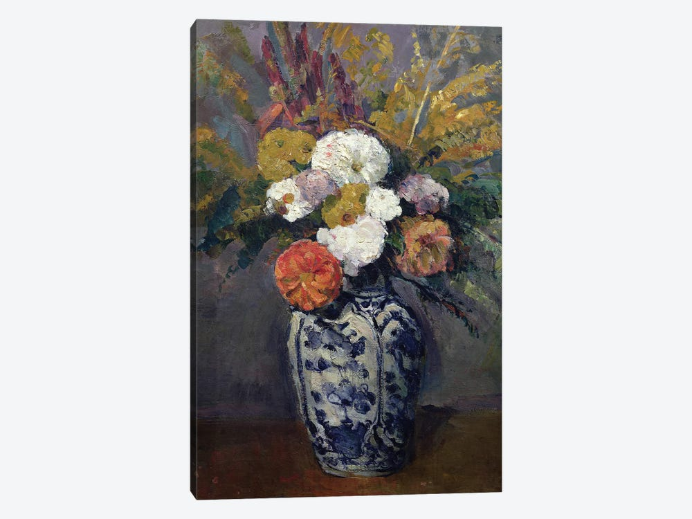 Dahlias, c.1873  by Paul Cezanne 1-piece Art Print