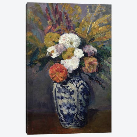 Dahlias, c.1873  3-Piece Canvas #BMN2130} by Paul Cezanne Canvas Artwork