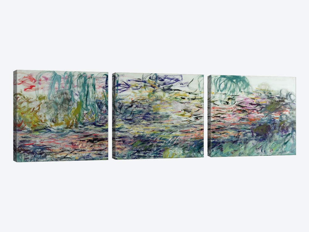 Waterlilies, 1917-19  by Claude Monet 3-piece Art Print