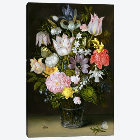 Still Life with Flowers  Canvas Print #BMN2133} by Ambrosius the Elder Bosschaert Canvas Wall Art