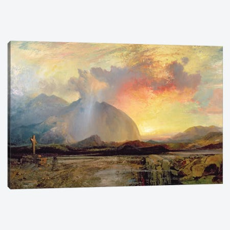 Sunset Vespers at the Old Rugged Cross  Canvas Print #BMN2137} by Thomas Moran Canvas Art Print
