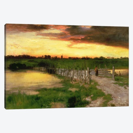 The Old Bridge Over Hook Pond, 1907  Canvas Print #BMN2138} by Thomas Moran Canvas Wall Art