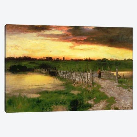 The Old Bridge Over Hook Pond, 1907  Canvas Print #BMN2138} by Thomas Moran Canvas Wall Art