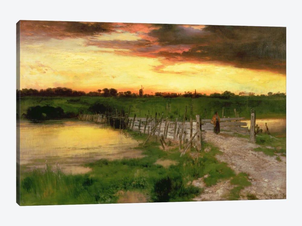 The Old Bridge Over Hook Pond, 1907  by Thomas Moran 1-piece Canvas Print