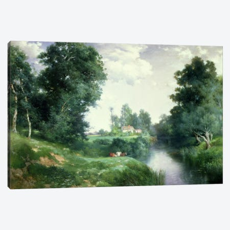 A Long Island River, 1908  Canvas Print #BMN2139} by Thomas Moran Canvas Artwork
