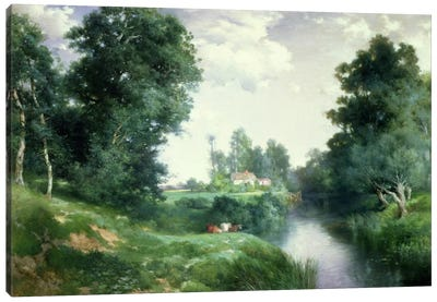 A Long Island River, 1908 Canvas Art Print