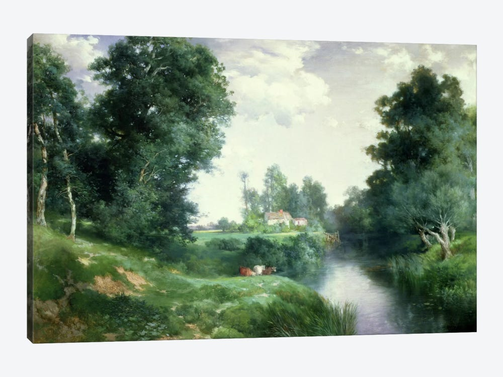 A Long Island River, 1908  by Thomas Moran 1-piece Canvas Wall Art