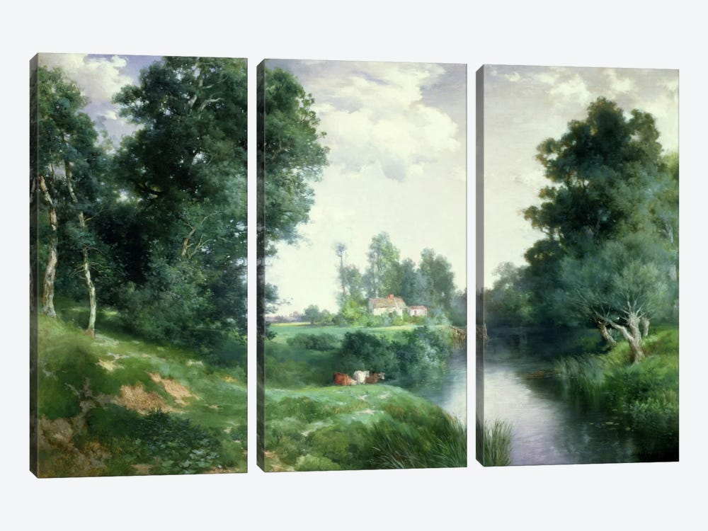 A Long Island River, 1908  by Thomas Moran 3-piece Canvas Wall Art