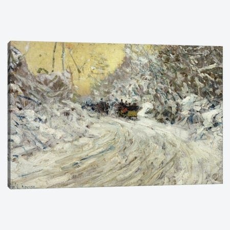 Sleigh Ride in Central Park  Canvas Print #BMN2140} by Childe Hassam Art Print